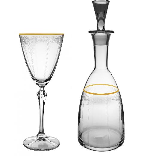 Δίσκος καράφα ποτήρι vintage – Online eshop Ketsetzoglou.gr