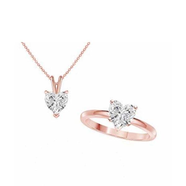 Δαχτυλίδι κολιέ σετ γάμου