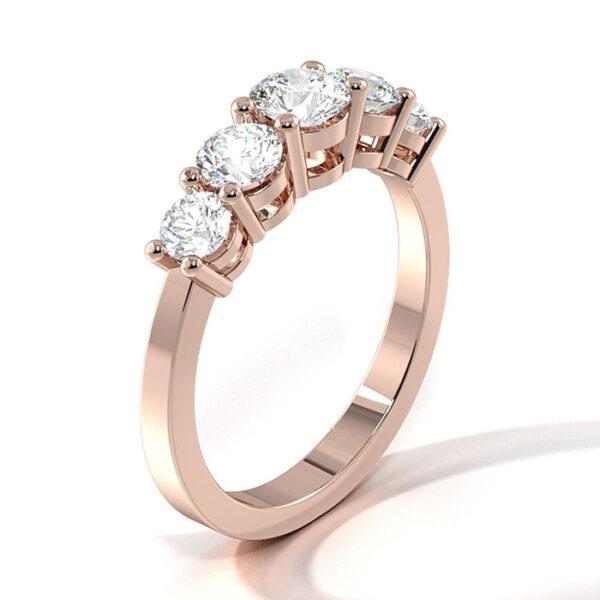 Μισόβερο δαχτυλίδι με διαμάντια