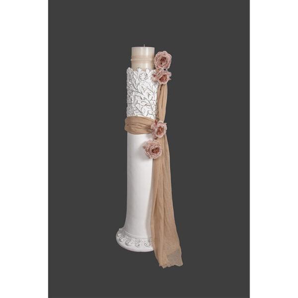 Κηροστάτης λαμπάδα γάμου vintage