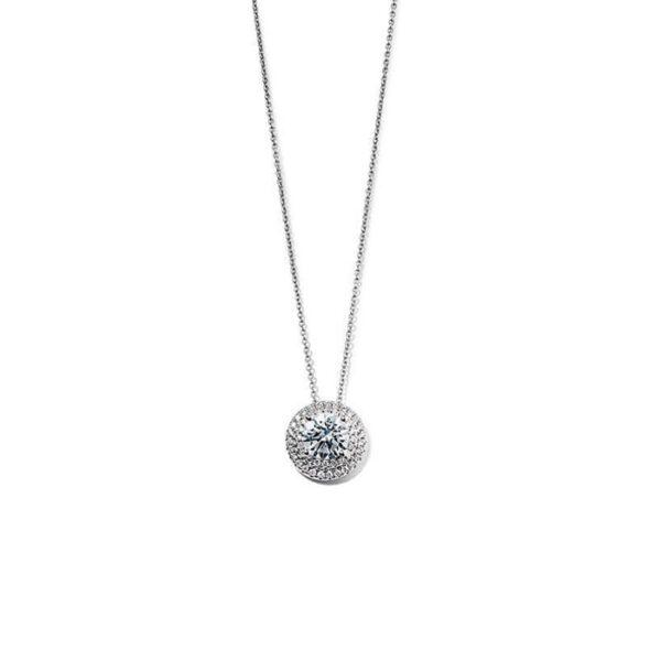 Μενταγιόν με διαμάντια λευκόχρυσο