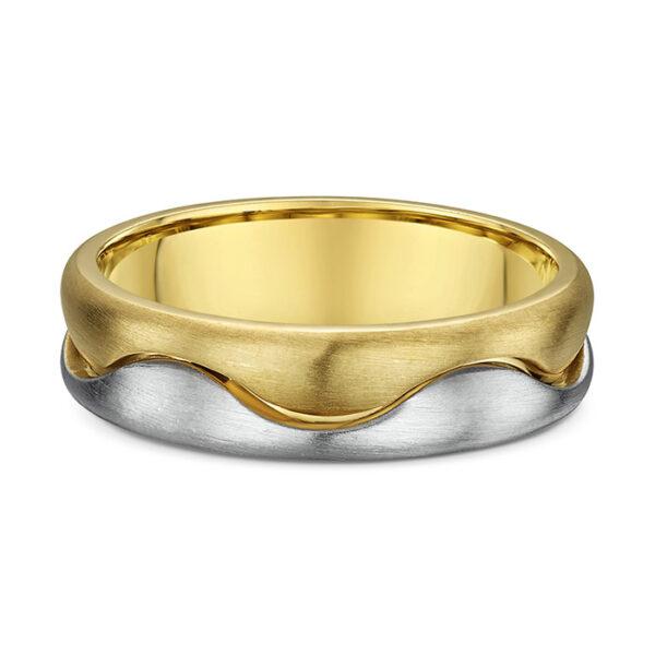 Βέρα γάμου λευκόχρυσο & χρυσό