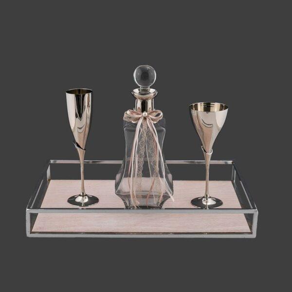 Νέα σετ καράφα ποτήρι γάμου – Είδη γάμου Ketsetzoglou