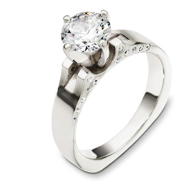 Mονόπετρo δαχτυλίδι μπριγιάν