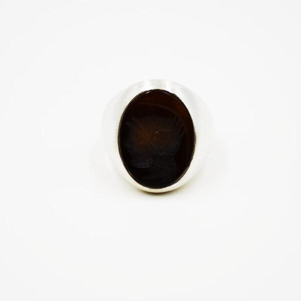 Ασημένιο δαχτυλίδι με σχέδιο