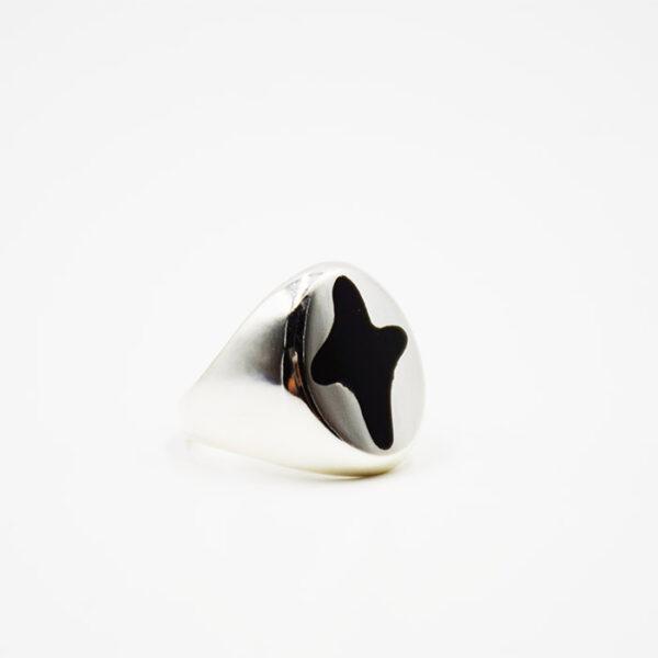 Δαχτυλίδι ασημένιο με σταυρό