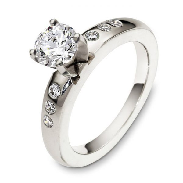 Mονόπετρo δαχτυλίδι μπριγιάν κόσμημα για λόγο