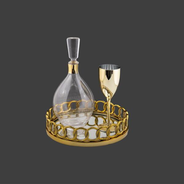 Ποτήρι κρασιού καράφες σετ γάμου
