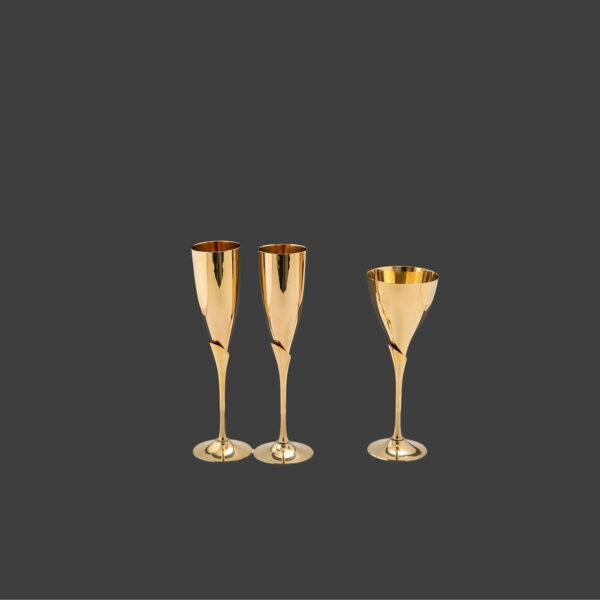 Ποτήρια για σετ γάμου
