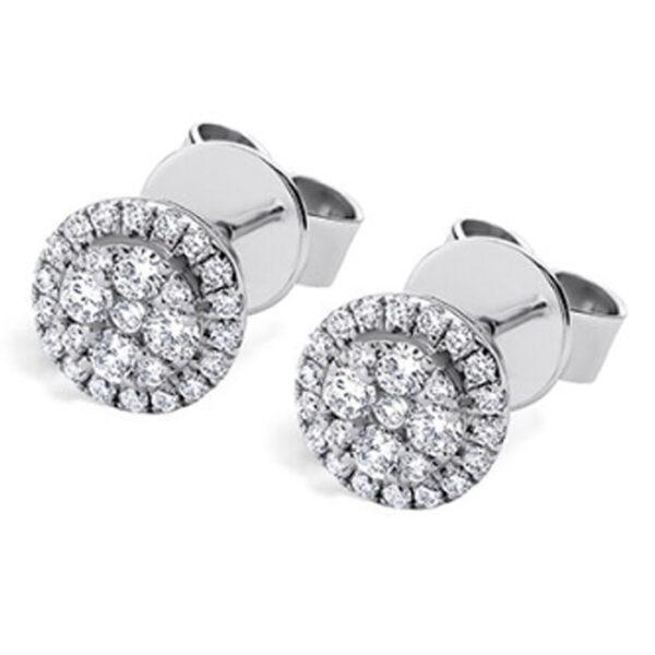 Μονόπετρα σκουλαρίκια για γάμο