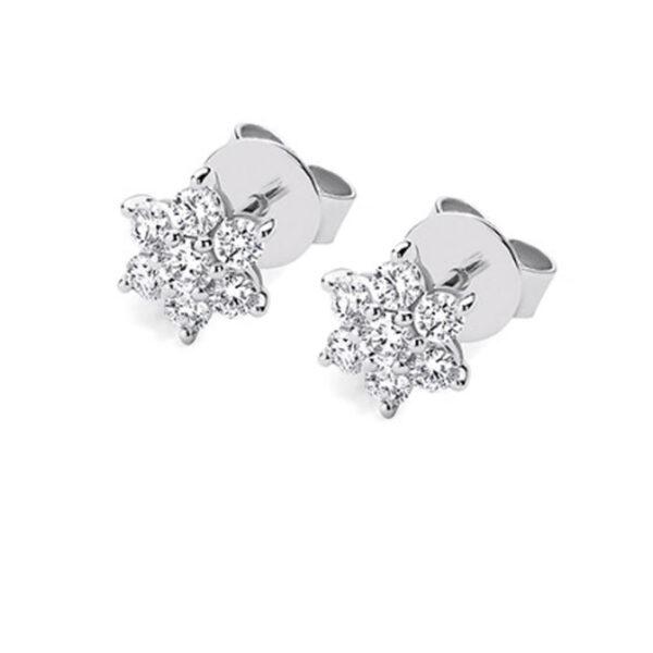 Σκουλαρίκια με διαμάντια σε μοντέρνα γραμμή