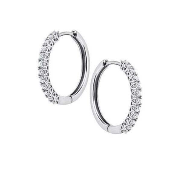 Σκουλαρίκια κρίκοι με διαμάντια