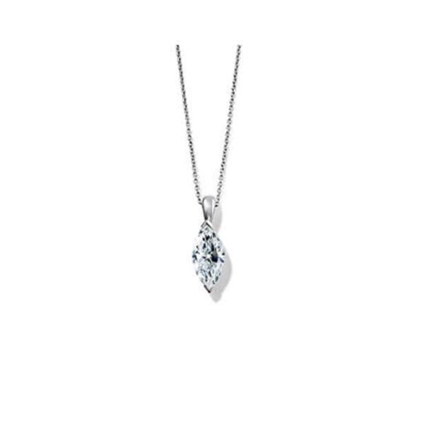 Μονόπετρο μενταγιόν με διαμάντι