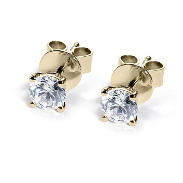 Σκουλαρίκια χρυσά με διαμάντια
