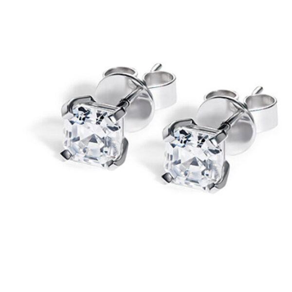 Μονόπετρα σκουλαρίκια με μπριγιάν