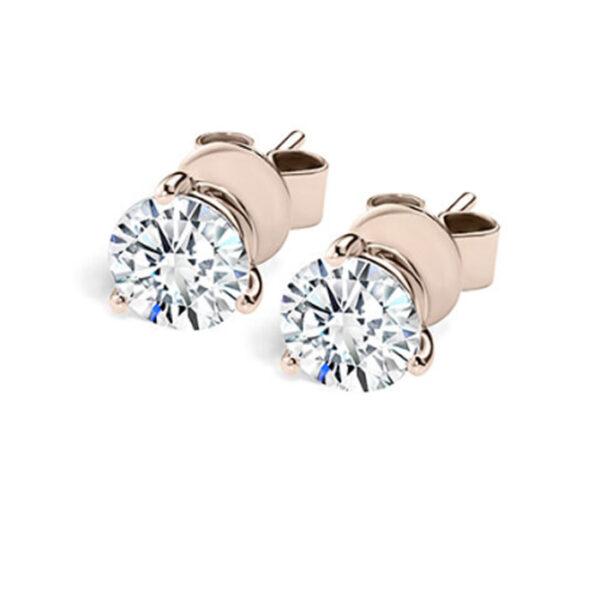 Μονόπετρα σκουλαρίκια με διαμάντια