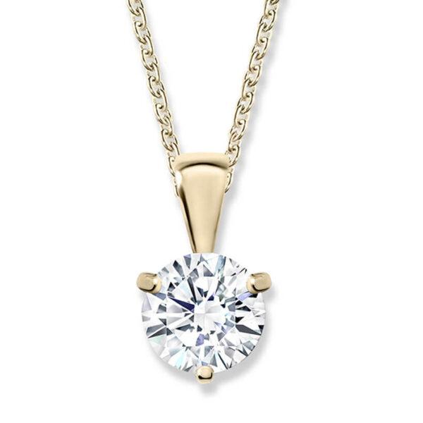 κολιέ με διαμάντι