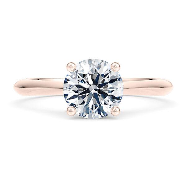 Δαχτυλίδι ροζ χρυσό με διαμάντια