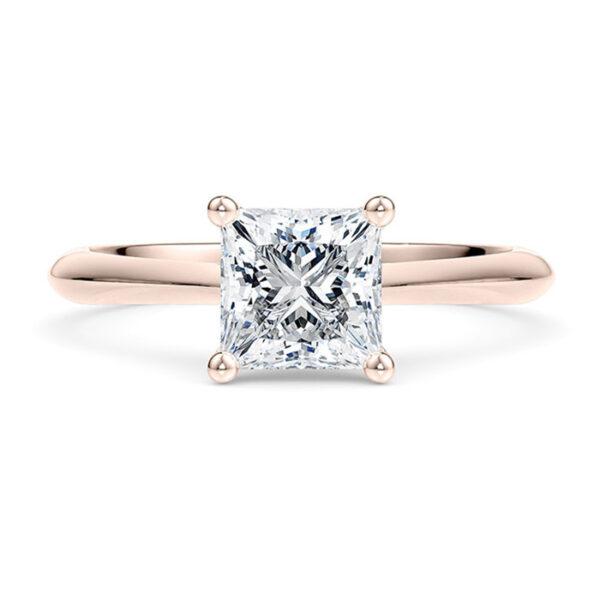 Δαχτυλίδι ροζ χρυσό με μπριγιάν