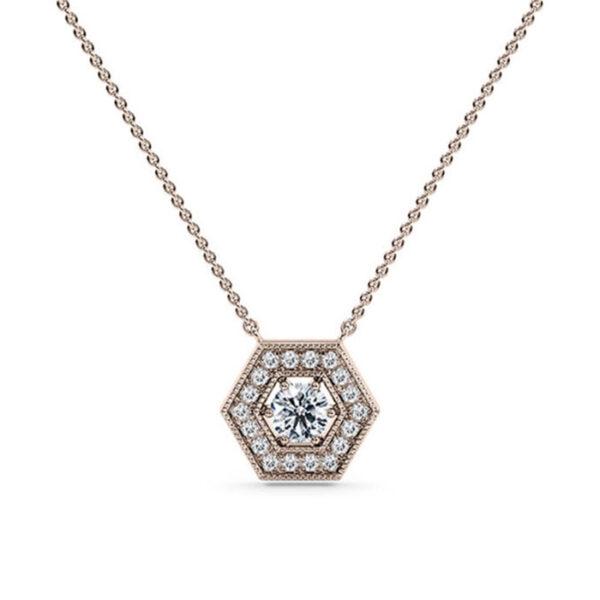 Μενταγιόν με διαμάντια χειροποίητο κόσμημα