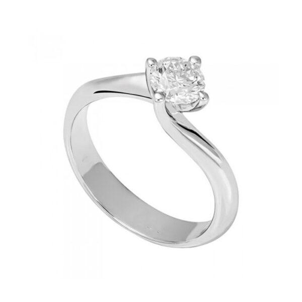 Δαχτυλίδι αρραβώνων με διαμάντια λευκόχρυσο