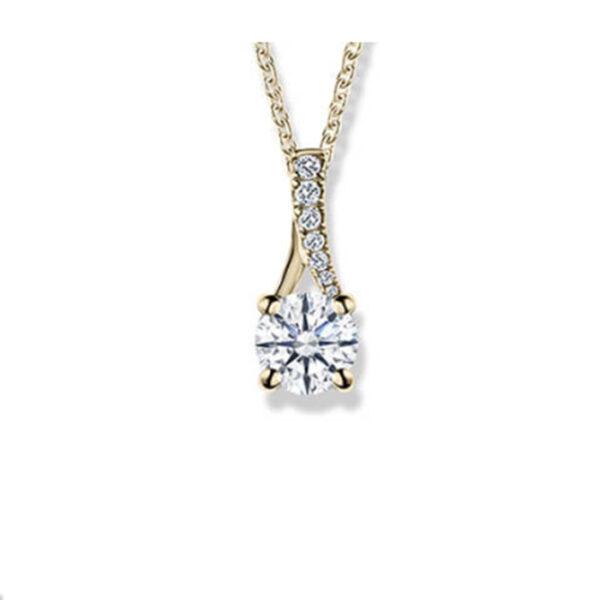 Κόσμημα μονόπετρο με διαμάντι κοπής μπριγιάν