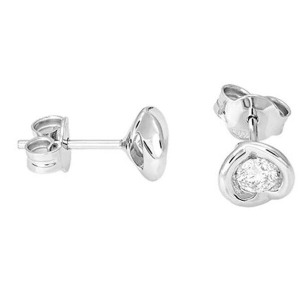 Μονόπετρα σκουλαρίκια μπριγιάν