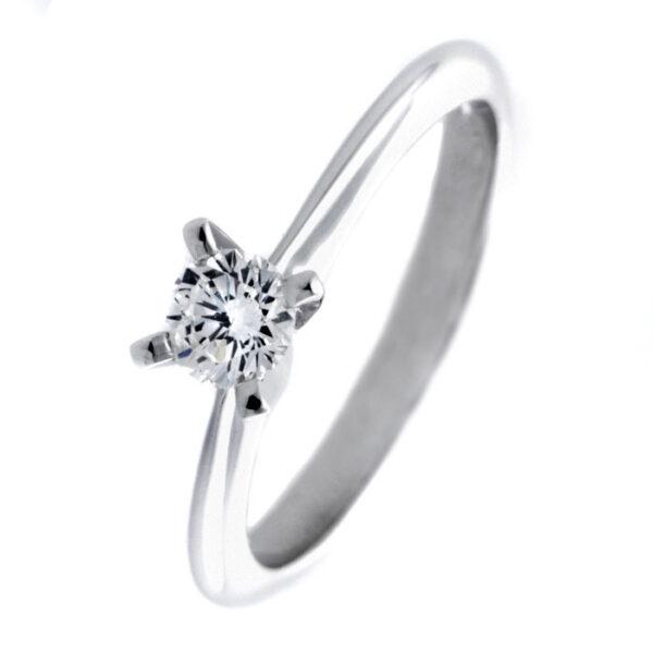 λευκοχρυσο μονοπετρo δαχτυλιδι