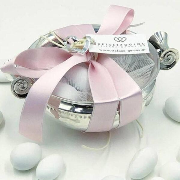 bridal μπομπονιέρα ασημένια