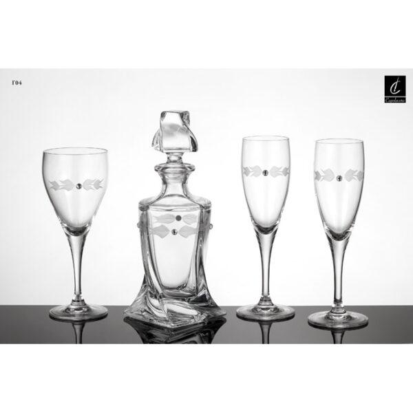 Kαράφα ποτήρια σαμπάνιας