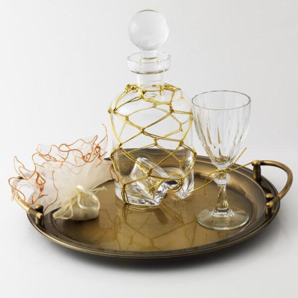 καραφα ποτηρι διακοσμημενα