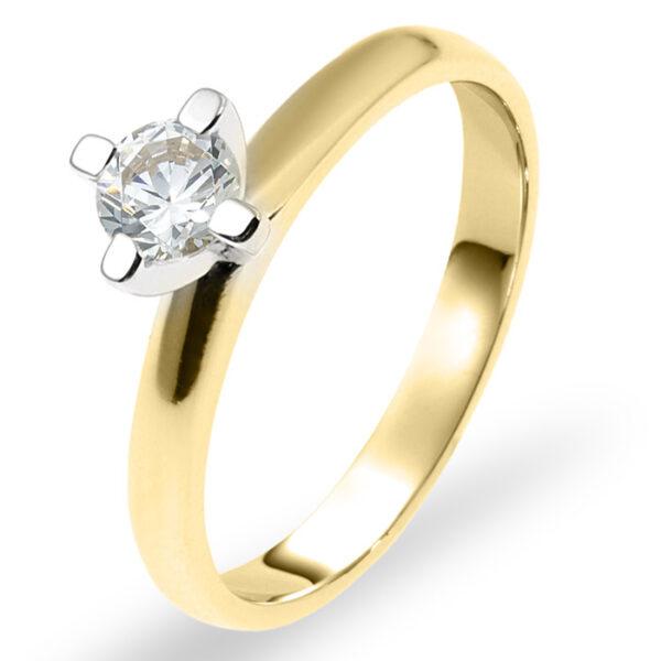 Μονόπετρο λευκόχρυσο & χρυσό με διαμάντι για λόγο – Ketsetzoglou.gr