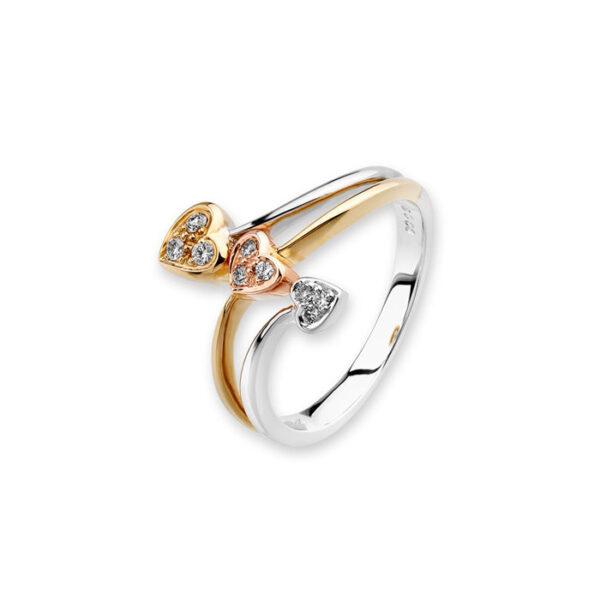 δαχτυλιδι καρδιες διαμαντια