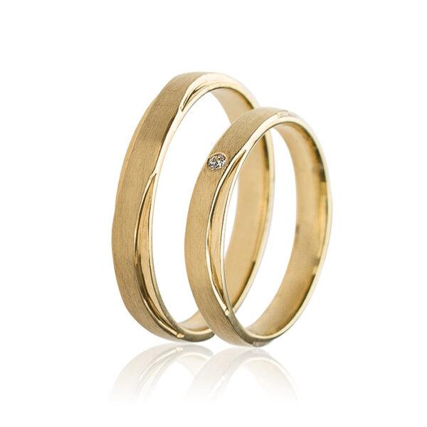 χρυσές βέρες γάμου elegant and chic
