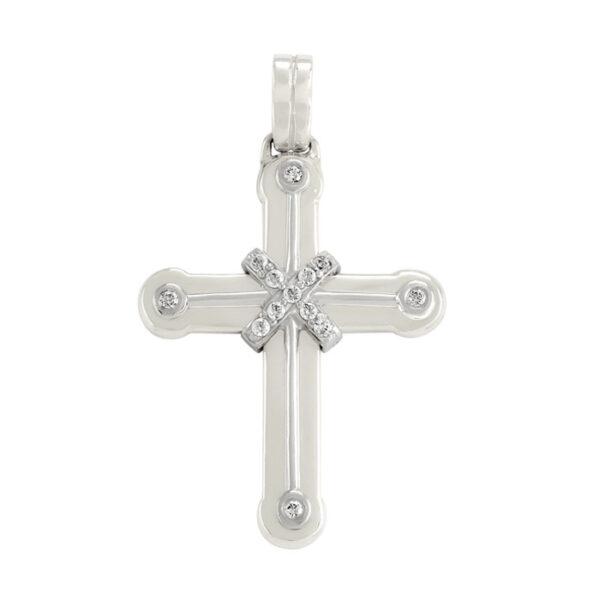 λευκόχρυσος σταυρός βαπτιστικός