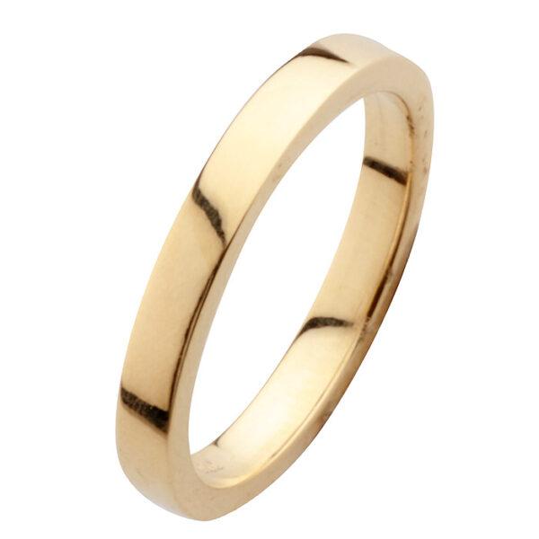 Βέρες γάμου κλασικές σε χρυσό