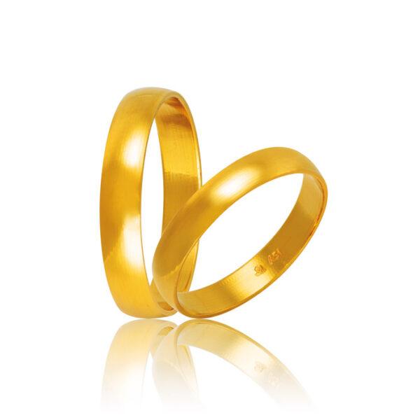 Βέρες γάμου χρυσές κλασικές