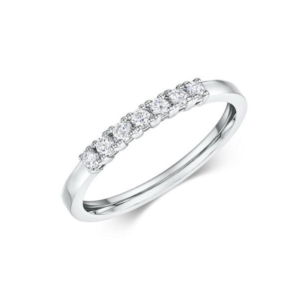 μισόβερο σειρέ δαχτυλίδι με διαμάντια