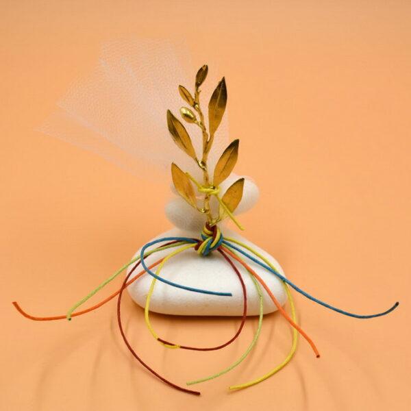 μπομπονιέρες γάμου με φύλλα ελιάς