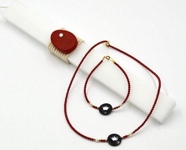 κοσμήματα ασημένια με δώρο την λαμπάδα