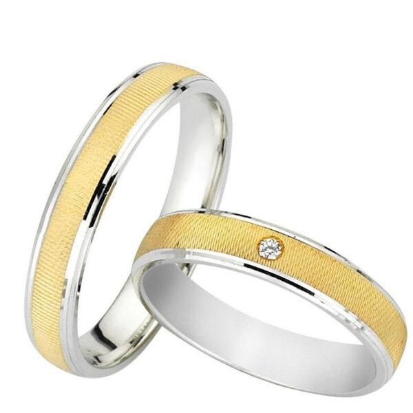 Περίτεχνες βέρες δίχρωμες γάμου