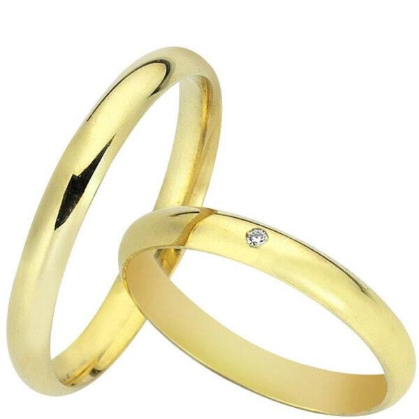 βέρες χρυσές γάμου με διαμάντι