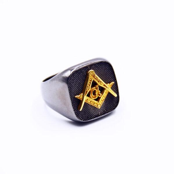 Μασονικό δαχτυλίδι δίχρωμο