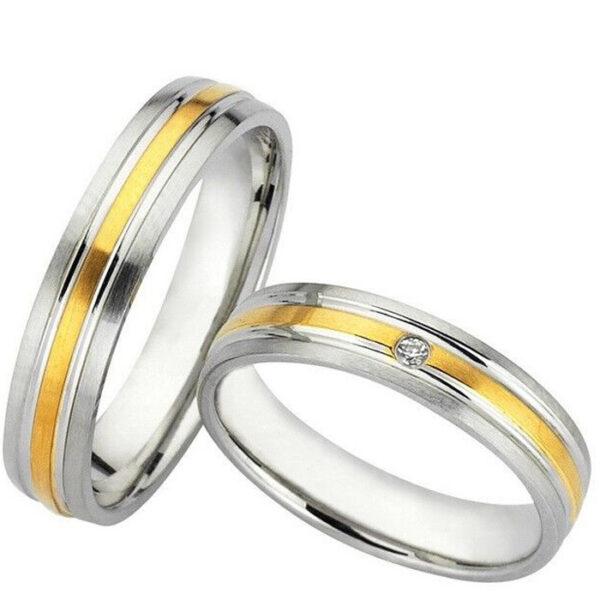 Βέρες δίχρωμες γάμου