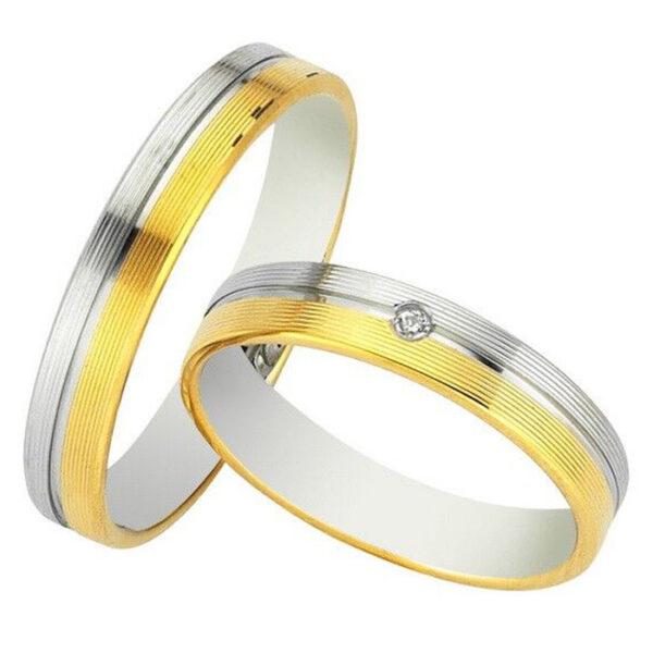 Πρωτότυπες δίχρωμες βέρες γάμου - Κόσμημα και ρολόγια Κετσετζόγλου