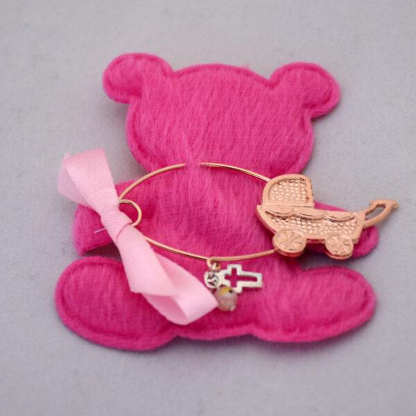 ματάκια φυλαχτά παραμάνα σε ροζ χρύσο