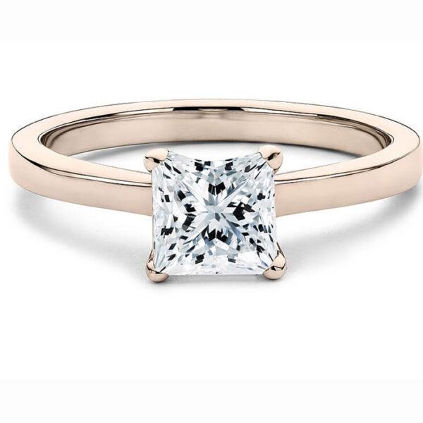 ιδιαίτερο ροζ χρυσό μονόπετρο για πρόταση γάμου