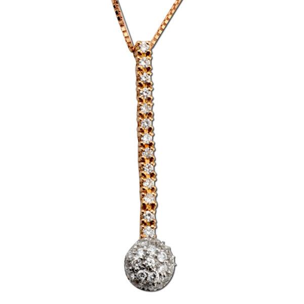 Κολιέ diamonds λευκόχρυσο & ροζ χρυσό - eshop online ketsetzoglou.gr