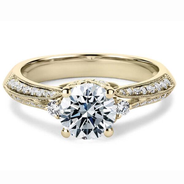 μονόπετρο δαχτυλίδι χρυσό σύμβολο αγάπης