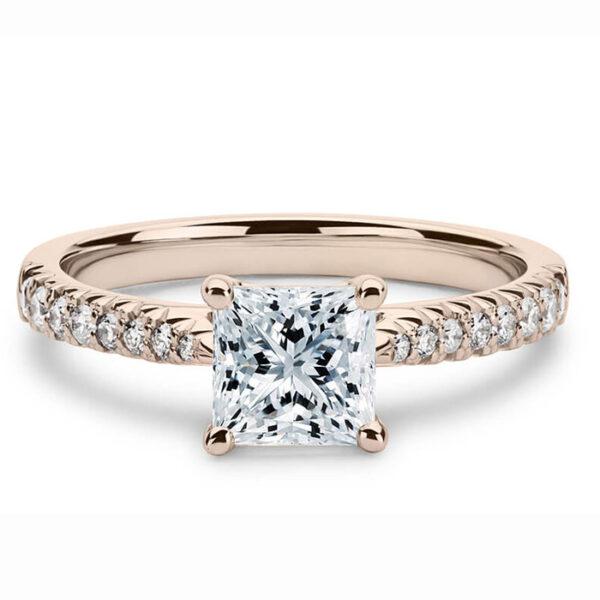 μονόπετρο δαχτυλίδι με διαμάντια chic-vintage